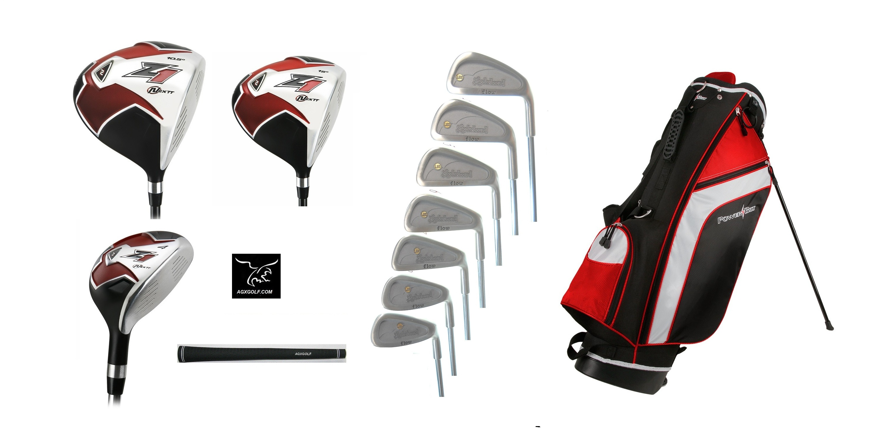 SENIOR MENS TOUR ZONE GOLF CLUB SET 460 DRIVER+WOOD+HYBRID+